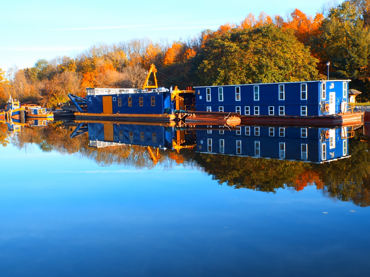 Erie Canal Reflections in Wayne County (photo)