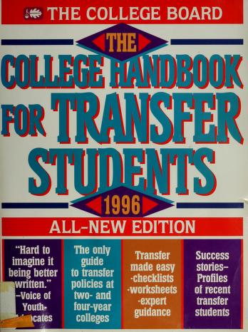 Cover of: The College Handbook for Transfer Students 1996 (College Handbook for Transfer Students) | College Board