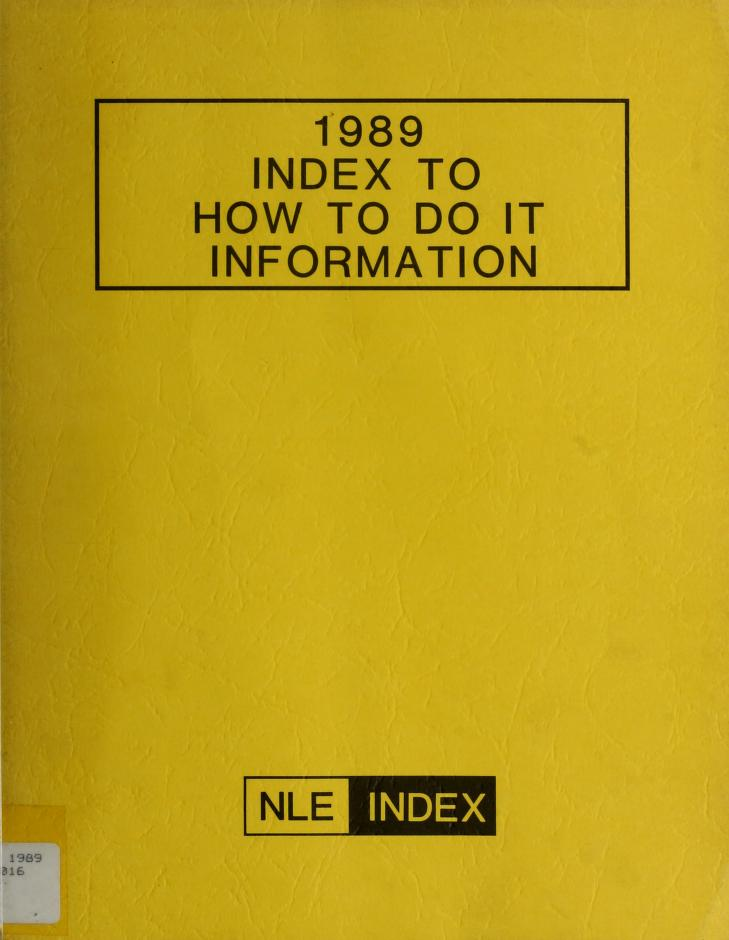 How to Do It Information by Norman M. Lathrop