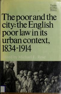 Cover of: The Poor and the city | edited by Michael E. Rose.